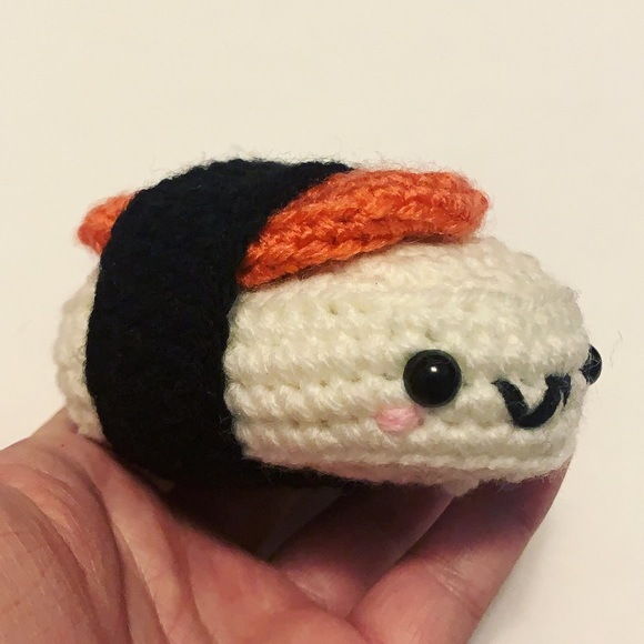 Sushi crochet plush kawaii handmade
